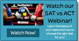 SAT vs ACT Webinar