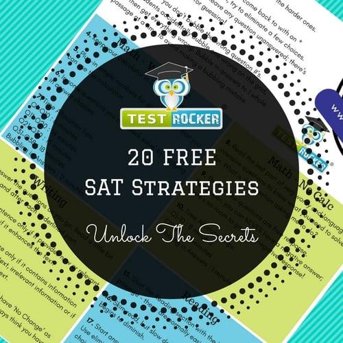 free sat strategies 20