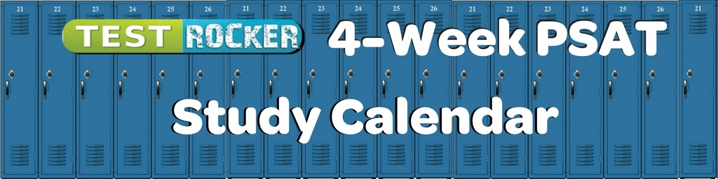 last minute psat study calendar