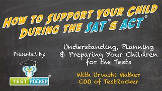 how to support your child during the sat act test